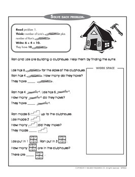 Addition and Subtraction Within 20 - 1 (CCSS 1.OA.C.6)