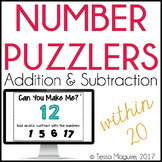 Addition and Subtraction within 20 Number Puzzlers