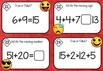 Addition and Subtraction within 20 Worksheets and Task Cards