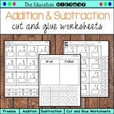 Addition and Subtraction within 25 | Cut and Glue
