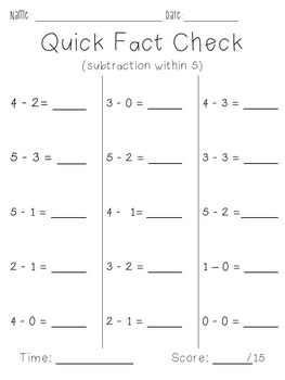 Addition and Subtraction (within 5)