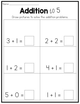 Addition and Subtraction to 5