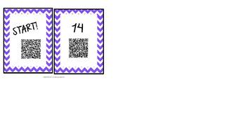 Addition and Subtraction word problem QR Code scavenger hunt