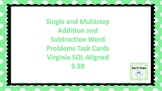 Addition and Subtraction word problems SOL aligned