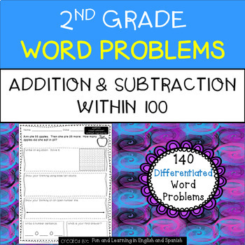 nd grade word problems  addition and subtraction worksheets  tpt nd grade word problems  addition and subtraction worksheets