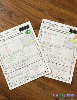 2nd Grade Word Problems - Addition and Subtraction ...