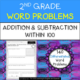 2nd Grade Word Problems - Add & Subtract (w/ digital option) - Distance Learning
