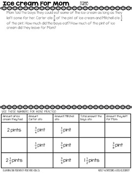 Addition and Subtraction with Fractions: Math Tasks for Grades 4–5
