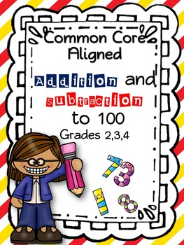 Addition and Subtracton Word Problems to 100 (common core