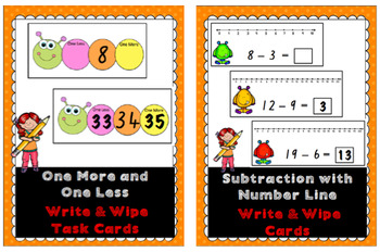 Addition and Subtraction Write and Wipe Cards BUNDLE