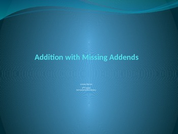 Addition and missing addends