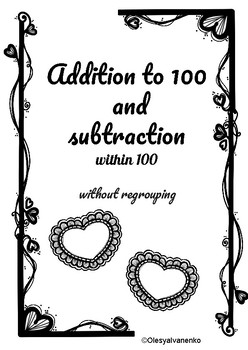 Addition and subtraction/ 100 / without regrouping