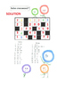 Addition and subtraction crossword