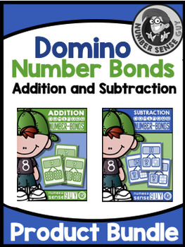 Addition and subtraction domino number bonds bundle