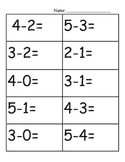 Addition and subtraction fluency to 5