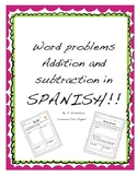 Addition and subtraction in SPANISH!!