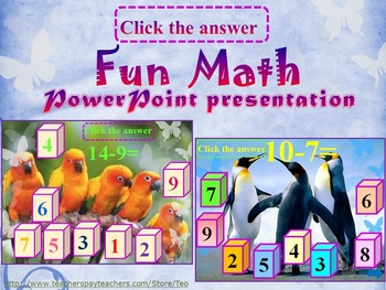 End of the year activities - Addition and subtraction - PowerPoint Lesson