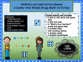 Addition and subtraction math centers and activities for kinder and first grade