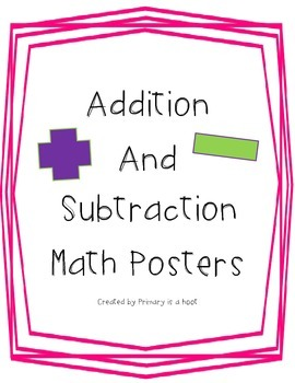 Addition and subtraction math posters