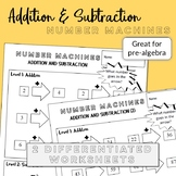 Addition and subtraction number machines - 2 differentiate