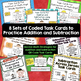 Addition and subtraction of Greater Numbers Task Card Bundle