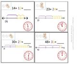 1st Grade & 2nd Grade Math Calendar - Add & sub on number