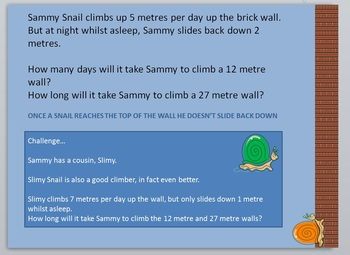Addition and subtraction problem solving snails
