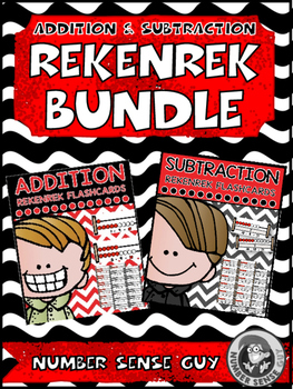 Addition and subtraction rekenrek flash card bundle