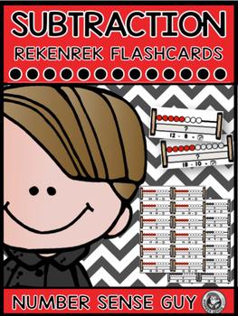 Addition and subtraction rekenrek flash card bundle
