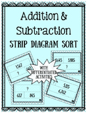 Addition and subtraction strip diagrams