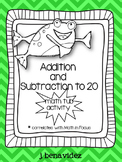 Addition and subtraction to 20 math in focus tub activity