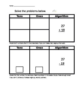 Addition and subtraction with regrouping practice