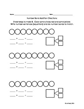 Addition and subtraction within 10, With number bonds!