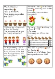 Addition and subtraction worded problem cards