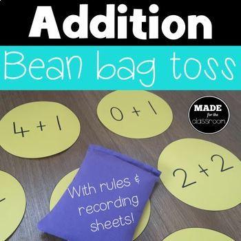 Addition bean bag toss