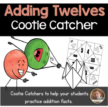 Addition by 12's Cootie Catcher/Fortune Teller- Perfect fo