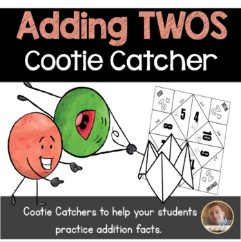 Addition by 2's Cootie Catcher/Fortune Teller- Perfect for Fact Fluency