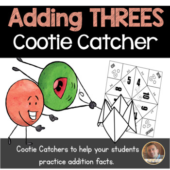 Addition by 3's Cootie Catcher/Fortune Teller- Perfect for Fact Fluency