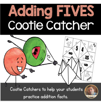 Addition by 5's Cootie Catcher/Fortune Teller- Perfect for