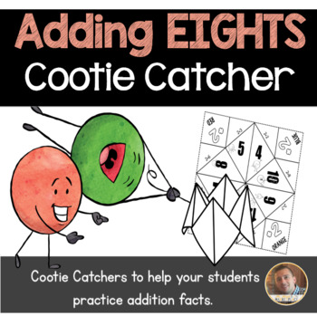 Addition by 8's Cootie Catcher/Fortune Teller- Perfect for