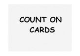 Addition by Counting On Cards with a Number Line