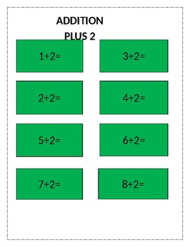 Addition cards plus 2