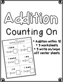 Addition (counting on within 10)