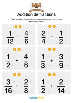 Addition de fractions 3 - Mettre deux fractions au même dénominateur