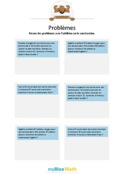 Addition et soustraction 3 - Additions sans nombres inutil