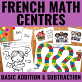 Addition et soustraction de base - Basic Addition and Subtraction Centers French