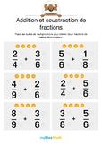 Add./soust. de fractions 2 - Mettre les fractions au même dénominateur
