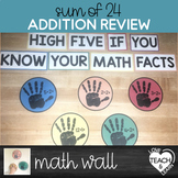 Addition Facts 0-12 (sum of 24) - High-Five Math Wall
