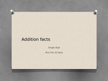 Addition facts 0 to 10 with stars