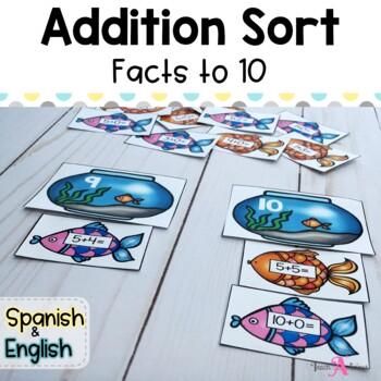 Addition facts sort (Independent station)